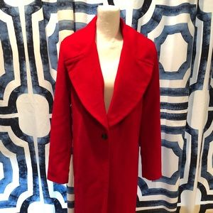Kendall & Kylie Red Overcoat